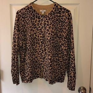 Cheetah print cardigan size PXL
